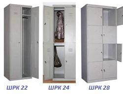 Виды железных шкафов для одежды